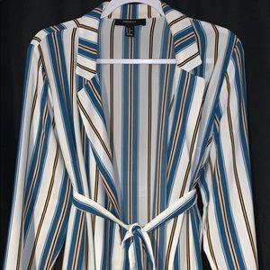 Stripped Long Cardigan